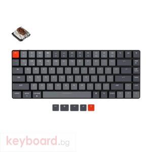 Геймърска Механична клавиатура Keychron K3 TKL Gateron Low Profile Brown Switch RGB LED Gateron Low Profile Brown Switch ABS