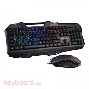 Геймърска клавиатура и мишка A4tech Bloody Illuminate B2500, Подсветка, B150N+N81, Черен