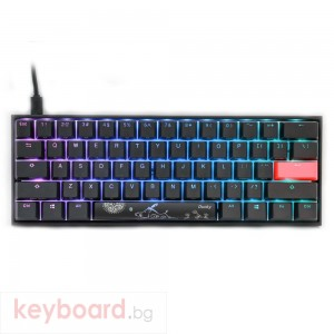 Геймърскa механична клавиатура Ducky One 2 Mecha Mini RGB, Cherry MX Silent Red