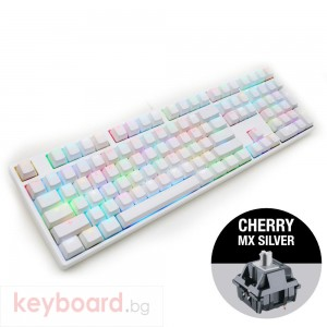 Геймърскa механична клавиатура Ducky One White RGB, Cherry MX Silver