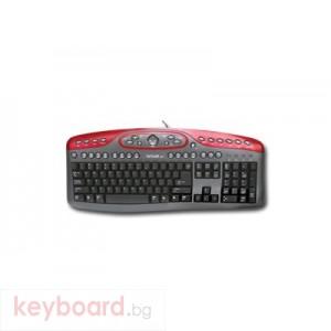 Клавиатура DELUX DLK-7016/USB/BULG/RB USB/PS/2