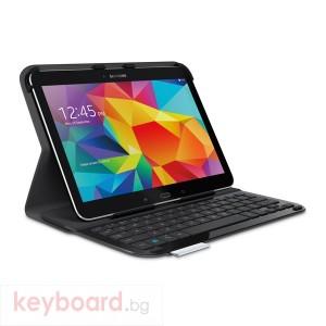 Logitech Ultrathin Keyboard Folio for Samsung Galaxy Tab 4, Russian Layout