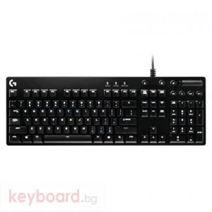 Клавиатура LOGITECH G610 Orion Brown геймърска механична USB, Високопрофилна