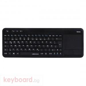 Безжична клавиатура Hama Uzzano 3.1, тъч пад, Черен