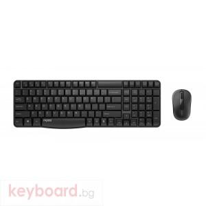 Комплект клавиатура и мишка RAPOO X1800S, Безжични, Черен