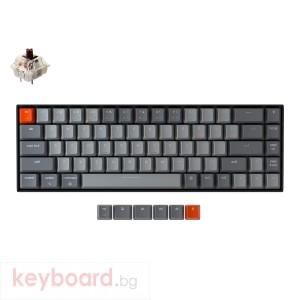Геймърска Механична клавиатура Keychron K6 Hot-Swappable 65% Gateron Brown Switch White LED Gateron Brown Switch ABS