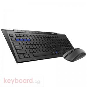 Комплект клавиатура и мишка RAPOO 8200M Multi mode, Bluetooth &2.4Ghz, Безжичен, Черен