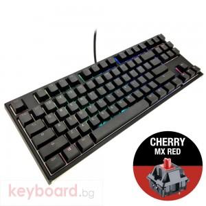 Геймърскa механична клавиатура Ducky One 2 RGB TKL, Cherry MX Red