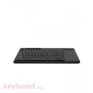 Безжичнa мини клавиатура RAPOO K2600, тъчпад, Черен
