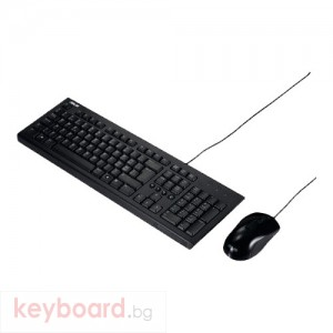 Комплект ASUS U2000 клавиатура и оптична мишка жични 1.5m