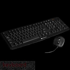 Клавиатура CANYON CNE-CSET1-BG, USB, BG, черен