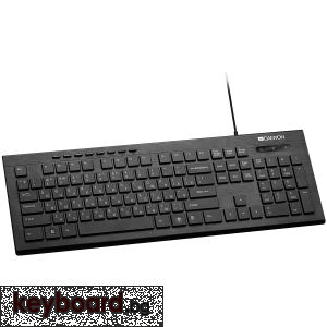 Клавиатура CANYON Multimedia US layout Черен