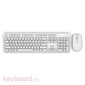 Клавиатура DELL KM636 Wireless Keyboard and Mouse бял, Designed with sleek lines, a compact size and chiclet keys.
