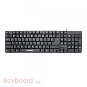 Клавиатура DeTech DE6081, USB, Черен