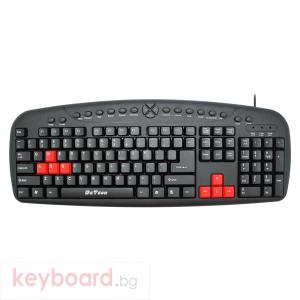Мултимедийна клавиатура DeTech DE6088, USB, Черен