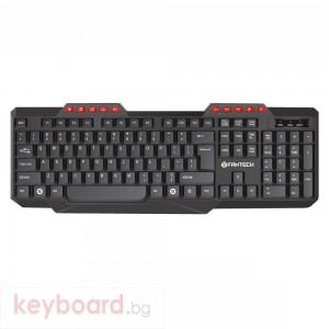 Мултимедийна клавиатура FanTech K210, USB, Черен