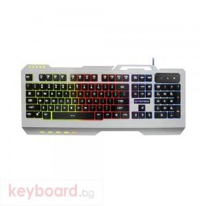 Геймърска клавиатура FanTech Outlaw K12, Сив