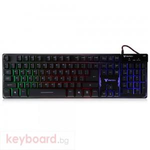 Геймърска клавиатура FanTech Pointblack K9,Без кирилизация, Черна