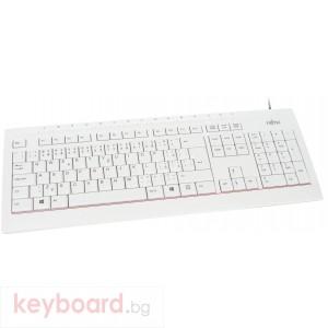 Мултимедийна клавиатура Fujitsu KB521, USB, Бял