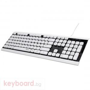 Водоустойчива клавиатура HAMA Covo, черен/бяла, USB