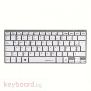 Безжична клавиатура Hama Rossano сиво-бяла