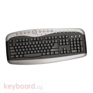 Клавиатура KBD-K813X мултимедийна, PS2, черна, BG