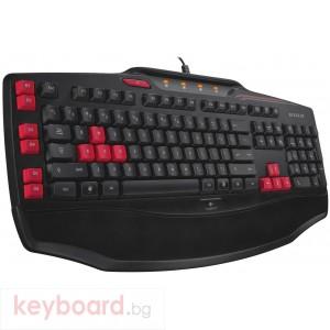 Геймърска клавиатура Logitech, G103, Черна