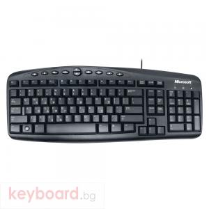 Мултимедийна Клавиатура, Microsoft Wired 500, PS2, Гръцка Стандартизация, Черен