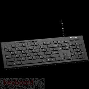 Клавиатура Multimedia wired keyboard BG черна