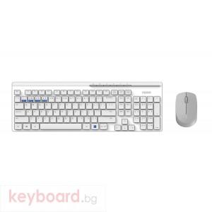 Комплект клавиатура и мишка RAPOO 8100M Multi mode, Bluetooth &2.4Ghz, Безжичен, Бял