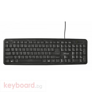 Клавиатура TRUST Ziva Full size, classic keyboard layout, Spill resistant, Comfortable