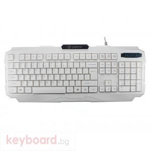 Геймърска клавиатура ZornWee, V01, Бял