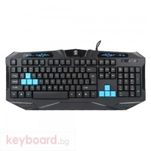 Геймърска клавиатура, ZornWee X3, USB, Черен