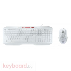 Гейминг комплект мишка и клавиатура, ZornWee y700, Бял