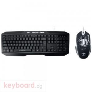 Гейминг комплект мишка и клавиатура, ZornWee y700, Черен