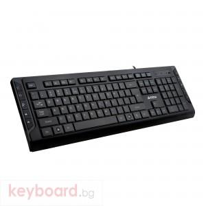 Клавиатура A4tech KD-600L, USB, LED синя подсветка Черна