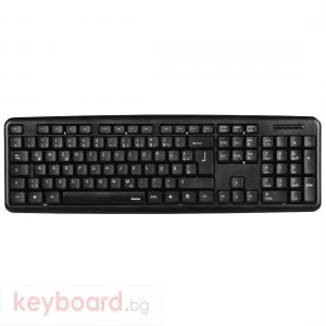 Стандартна клавиатура HAMA Verano, Черна, USB