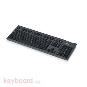 Клавиатура FUJITSU Мултимедийна KB410 black, тънка, USB,Фуджицу