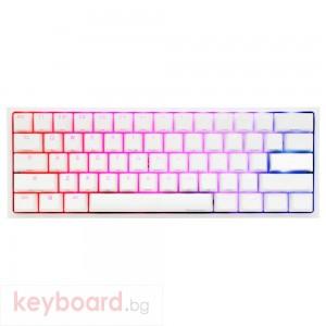 Геймърскa механична клавиатура Ducky One 2 Mini V2 White RGB, Kailh BOX Silent Pink