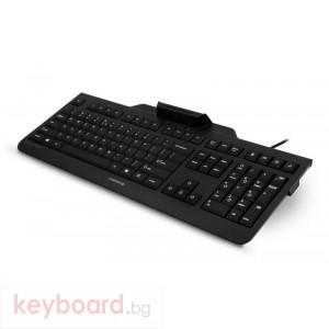 Жична клавиатура CHERRY KC 1000 SC, черна, с четец