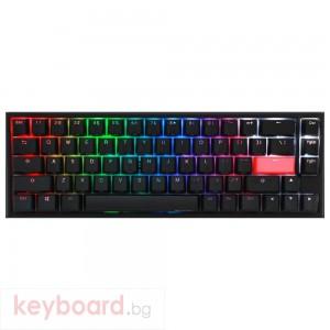 Геймърскa механична клавиатура Ducky One 2 SF RGB, Kailh BOX Silent Pink