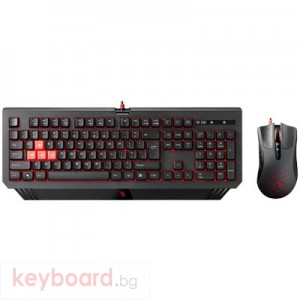 Клавиатура A4 TECH Геймърски комплект клавиатура с мишка Bloody Blazing B1500