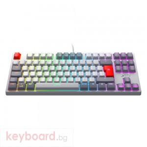 Геймърскa механична клавиатура Xtrfy K4 TKL RETRO RGB Kailh Red Switch, US Layout