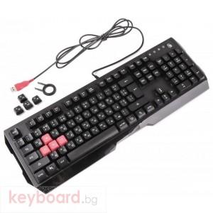 Геймърски комплект A4tech Bloody Illuminate Q1300, клавиатура, мишка, черен