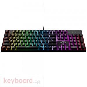 Геймърскa механична клавиатура Xtrfy K4 RGB Kailh Red Switch, US Layout