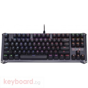 Геймърска механична клавиатура Bloody B930 TKL, RGB LED, USB, Кирилизирана, Черен