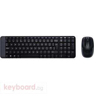 Kомплект безжични клавиатура с мишка Logitech MK220, Черна