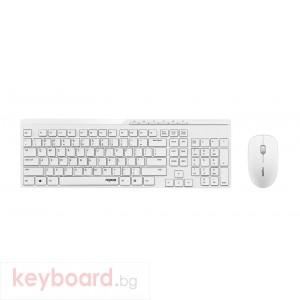 Комплект клавиатура и мишка RAPOO X8100 Безжичен  Бял