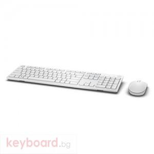 Комплект Dell KM636 безжична клавиатура и мишка US International, бели