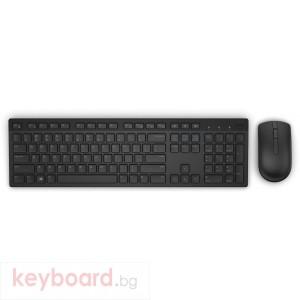 Комплект DELL KM636, безжичен, черен